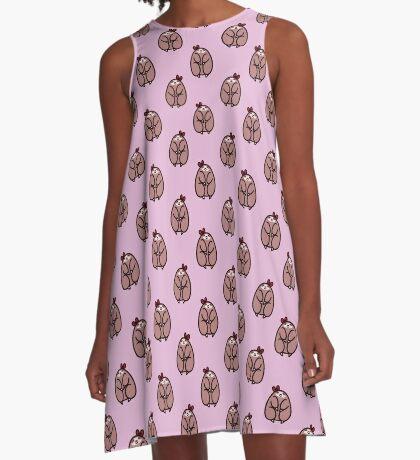 Bow Sloth Pattern A-Line Dress