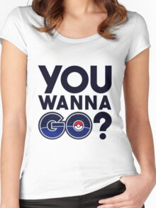 Pokemon GO - You wanna GO? Women's Fitted Scoop T-Shirt