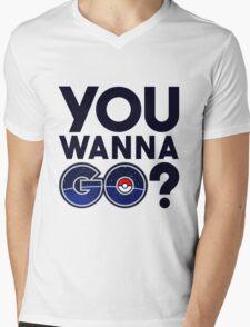 Pokemon GO - You wanna GO? Mens V-Neck T-Shirt