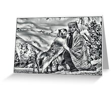 DOG AND MUSHER Greeting Card