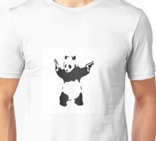 Panda with guns fresh design Unisex T-Shirt