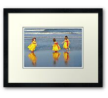 flower girls Framed Print