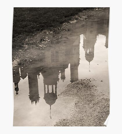 Chambord reflections in the rain Poster