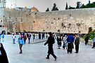 Preparing for Evening Prayers at the Western Wall by Roger Passman