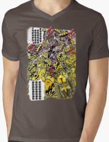 Star Platinum VS The World Colorful Mens V-Neck T-Shirt