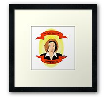 Our Lady Saint of Skeptics Framed Print