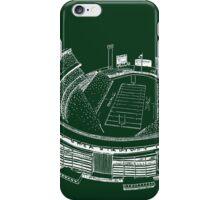 Shea Stadium - New York Jets Stadium Sketch (Green Background) iPhone Case/Skin