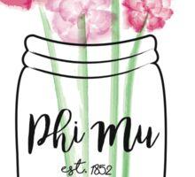 Phi Mu Gamma Delta Fall Mason Jar Sticker