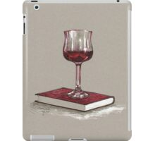 Books and wine - later iPad Case/Skin
