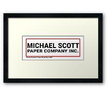 Michael Scott Paper Company Framed Print