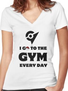 Pokemon Go - Gym Women's Fitted V-Neck T-Shirt
