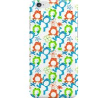 Colorful Frog Pattern iPhone Case/Skin