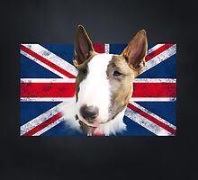 Bull Terrier BETTY Bullterrier UK grunge FLAG // black by bullylove