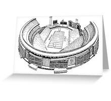 Shea Stadium - New York Jets Stadium Sketch (White Background) Greeting Card