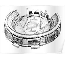 Shea Stadium - New York Jets/Mets Stadium Sketch Poster