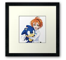 Rin Hoshizora SEGA Sonic the Hedgehog Framed Print