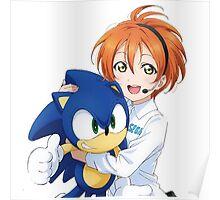 Rin Hoshizora SEGA Sonic the Hedgehog Poster