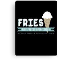 Fries Fine Frozen Confections - Mr. Freeze Canvas Print