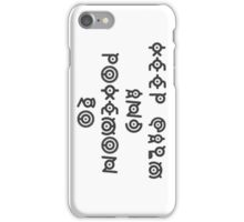 keep calm and pokemon go unknown iPhone Case/Skin