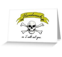 Handwash or I Will Cut You [Lime] Greeting Card