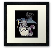 Cheshire Totoro Framed Print