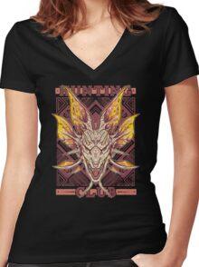 Hunting Club: Mizutsune Women's Fitted V-Neck T-Shirt