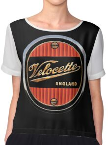 Velocette Vintage Motorcycles England Chiffon Top