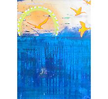 Free Bird abstract seascape contemporary painting Photographic Print