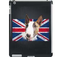 Bull Terrier BETTY Bullterrier UK grunge FLAG // black iPad Case/Skin