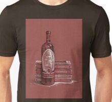 Books and wine Unisex T-Shirt
