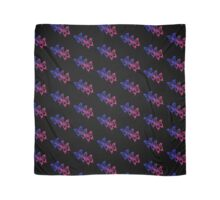 Bisexual Flag Butterfly Pattern on Black  Scarf