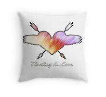 FLOATING IN LOVE Throw Pillow