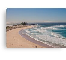 Nobbys Beach, Newcastle Australia Canvas Print