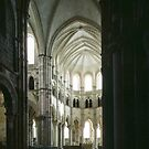 Apse and altar Cathedral Vezelay France 198405050070 by Fred Mitchell