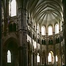 Apse and altar Cathedral Vezelay France 198405050072  by Fred Mitchell