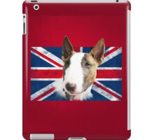 Bull Terrier BETTY Bullterrier UK grunge FLAG // red iPad Case/Skin