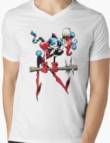 Harlequin Girl Mens V-Neck T-Shirt