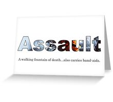 Assault BF Greeting Card