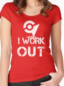 I Work Out - At the Gym Women's Fitted Scoop T-Shirt