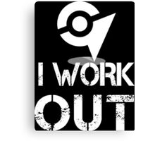 I Work Out - At the Gym Canvas Print