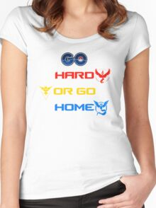 Pokemon Go Hard Or Go Home  Women's Fitted Scoop T-Shirt