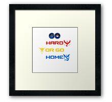 Pokemon Go Hard Or Go Home  Framed Print