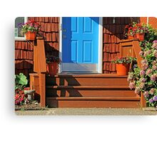 Blue and  Red entrance Canvas Print