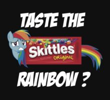 Taste The Rainbow? (WHITE TEXT) by Geekster23