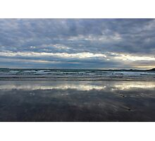 Seascape at sunset Photographic Print