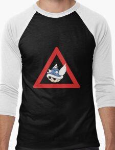 Danger Blue Shell Men's Baseball ¾ T-Shirt