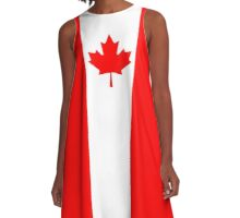 Flag of Canada - authentic version A-Line Dress