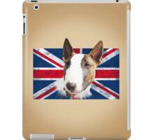 Bull Terrier BETTY Bullterrier UK grunge FLAG // creme iPad Case/Skin