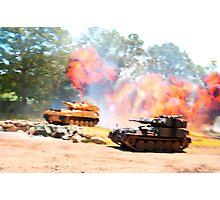 Tank battle Photographic Print