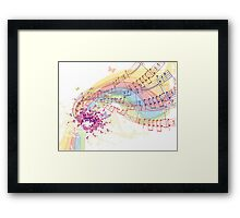 notes and chords Framed Print
